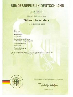 艾尔斯派-德国专利证书